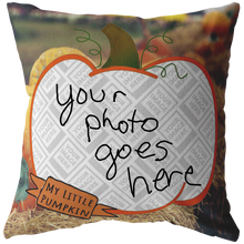 Load image into Gallery viewer, My Little Pumpkin Picture This™ Personalize Pillow