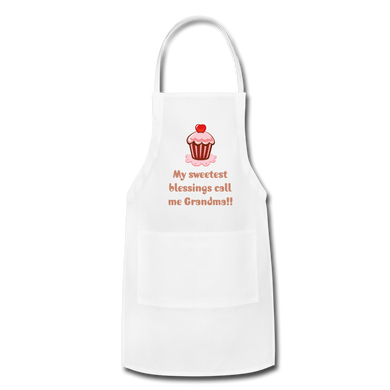 Pink Glitz My Sweetest Blessings Adjustable Apron - white