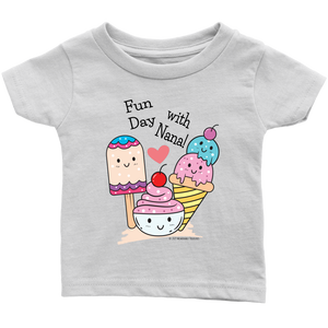 T-shirt Fun Day With Nana! - Tee-Shirt For Infants - Memorable Treasures