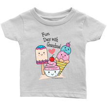 Load image into Gallery viewer, T-shirt Fun Day With Grandma! - Tee-Shirt For Infants - Memorable Treasures
