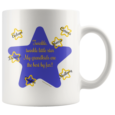 Drinkware Twinkle, Twinkle Little Star, My Grandkids Are the Best By Far! - Personalized Mug - Memorable Treasures