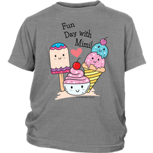Load image into Gallery viewer, T-shirt Fun Day With Mimi! - Tee-Shirt For Youth - Memorable Treasures