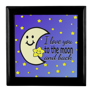 Jewelry Box I Love You to the Moon and Back Jewelry & Keepsake Box - Memorable Treasures