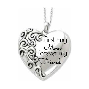 Necklace First My Mom, Forever My Friend - Heart Mother's Necklace - Memorable Treasures