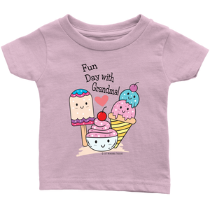 Fun Day With Grandma! - Tee-Shirt For Infants - Memorable Treasures Gift of Love for Family and Friends