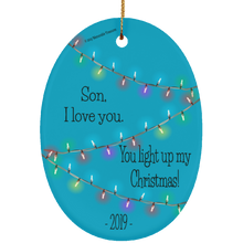 Load image into Gallery viewer, Housewares Son, You Light Up My Christmas - Ornament - Memorable Treasures