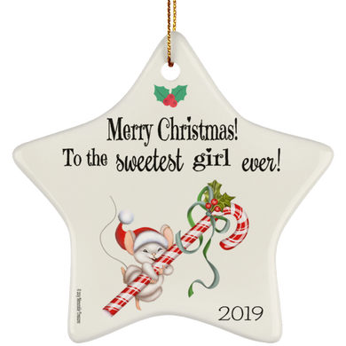 Housewares Sweetest Girl Ever! - Ornament - Memorable Treasures