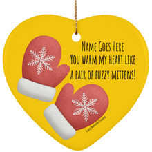 Load image into Gallery viewer, ornament Personalized 'You Warm My Heart' Ornament - Memorable Treasures