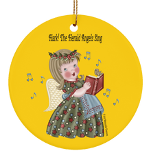 Load image into Gallery viewer, Housewares Hark! The Herald Angels Sing Circle Ornament - Memorable Treasures