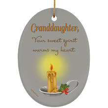 Load image into Gallery viewer, Housewares Granddaughter, Your Sweet Spirit Warms My Heart - Ornament - Memorable Treasures