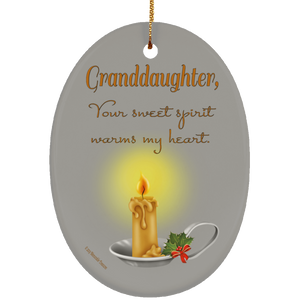 Housewares Granddaughter, Your Sweet Spirit Warms My Heart - Ornament - Memorable Treasures