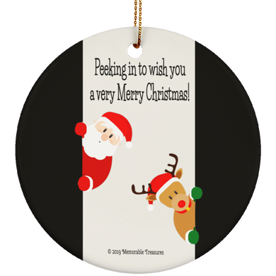Housewares Just Peeking In... Ceramic Ornament - Memorable Treasures