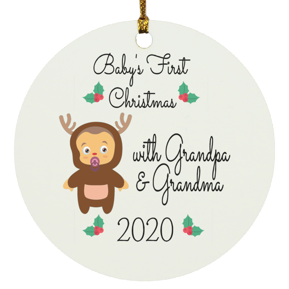 Housewares Baby's First Christmas With Grandpa & Grandma 2020 Ornament - Memorable Treasures