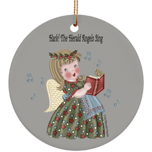 Housewares Hark! The Herald Angels Sing Circle Ornament - Memorable Treasures