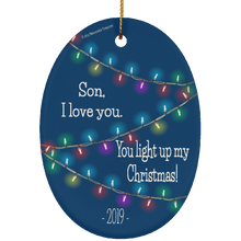 Load image into Gallery viewer, Son, You Light Up My Christmas - Ornament (Dark)