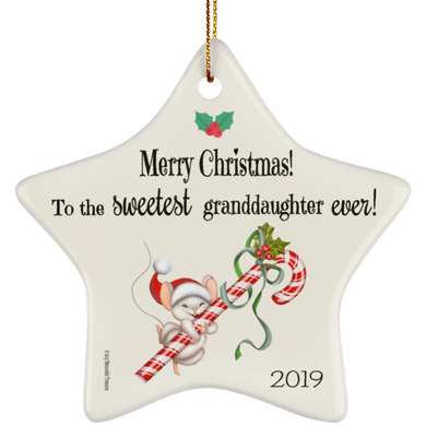 Sweetest Granddaughter Ever! - Ornament