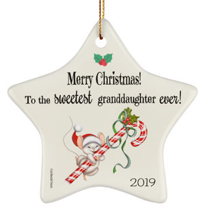 Housewares Sweetest Granddaughter Ever! - Ornament - Memorable Treasures