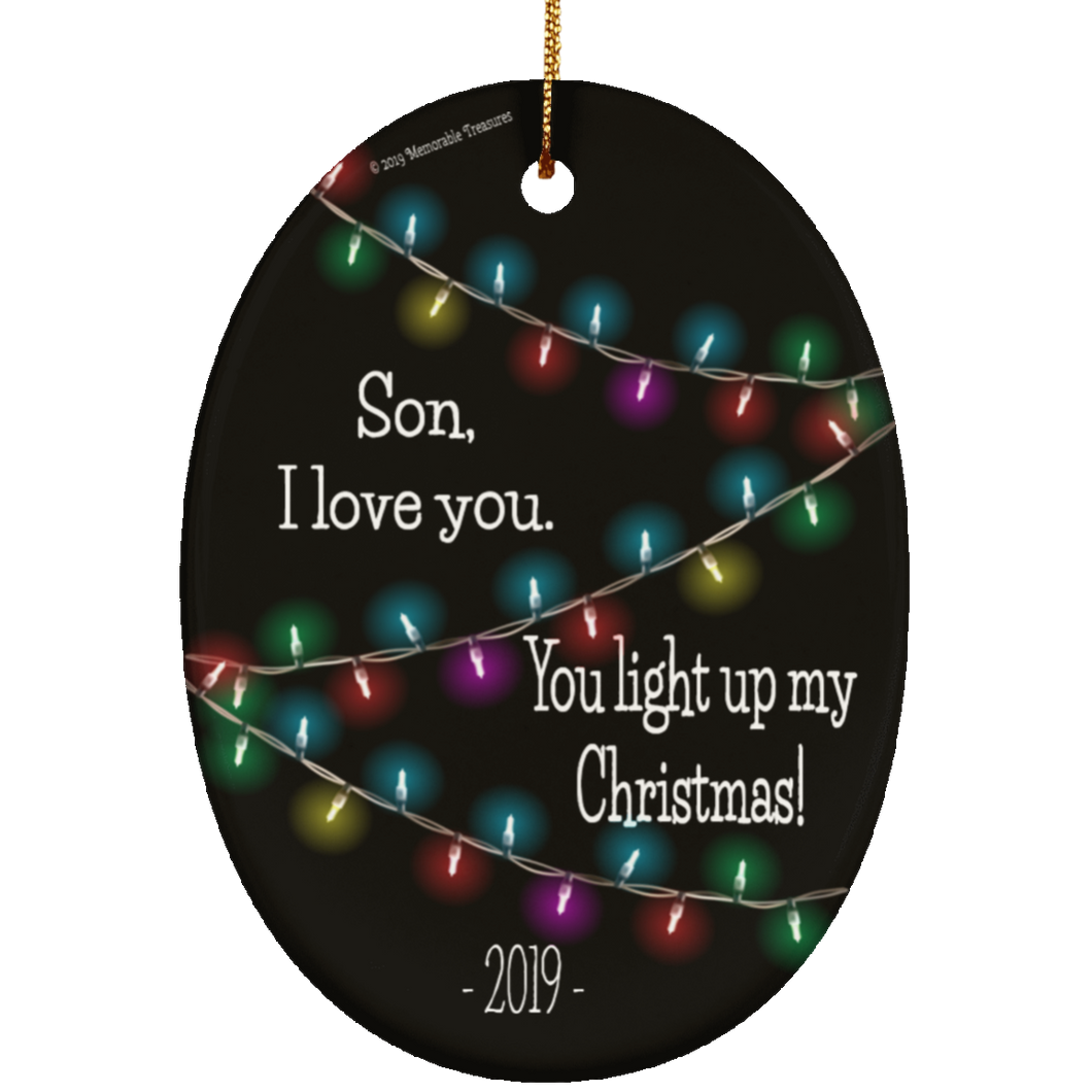 Son, You Light Up My Christmas - Ornament (Dark)