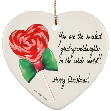 Sweetest Great-Granddaughter in the Whole World Ornament