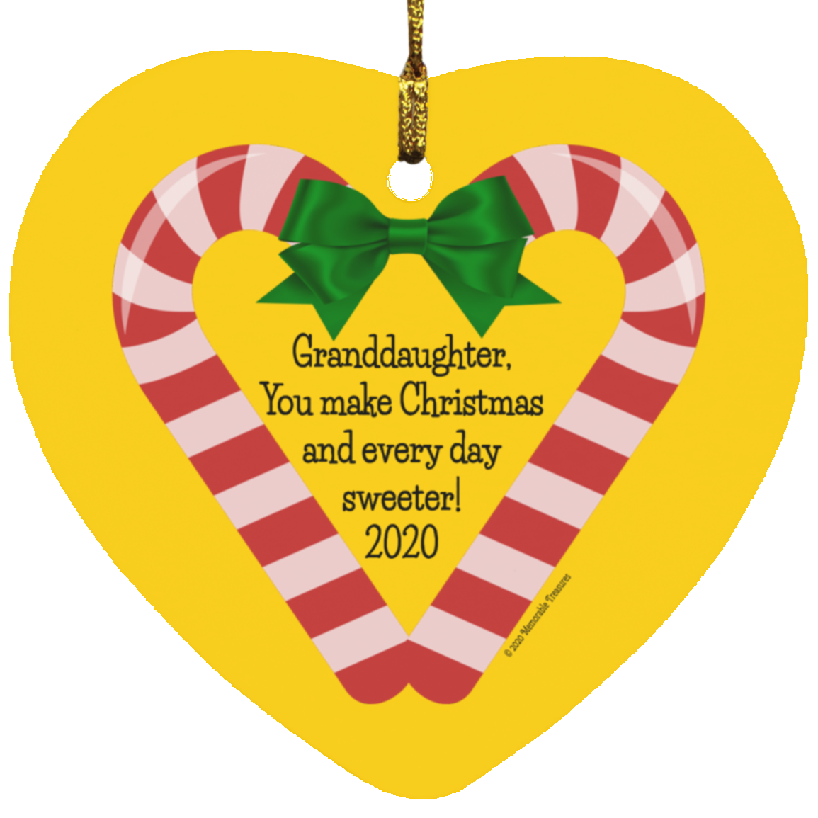 Housewares Granddaughter, You Make Christmas and Every Day Sweeter! 2020 Ornament - Memorable Treasures