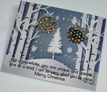 Load image into Gallery viewer, Jewelry Snowflake Earrings - Memorable Treasures