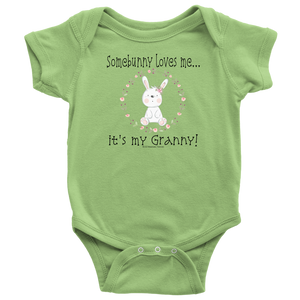 Somebunny Loves Me... Granny - Baby One Piece Teeshirt - Memorable Treasures Gift of Love for Family and Friends