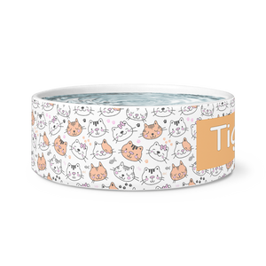 Dog Bowls Kitty Love Personalized Cat Dish - Memorable Treasures