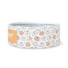 Load image into Gallery viewer, Kitty Love Personalized Cat Dish - Memorable Treasures Gift of Love for Family and Friends