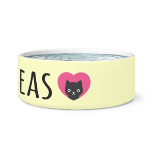 Kitty Love Personalized Cat Dish - Memorable Treasures Gift of Love for Family and Friends