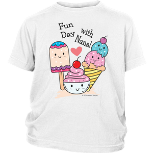 T-shirt Fun Day With Nana! - Tee-Shirt For Youth - Memorable Treasures