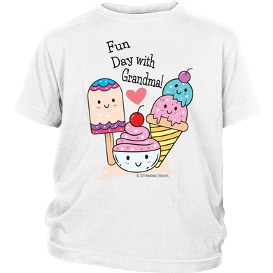 T-shirt Fun Day With Grandma! - Tee-Shirt For Youth - Memorable Treasures