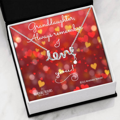 Jewelry Love Necklace for Granddaughter - Memorable Treasures