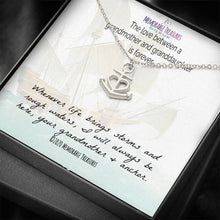 Load image into Gallery viewer, Jewelry Love Between Grandmother and Granddaughter is forever... - Anchor Necklace - Memorable Treasures