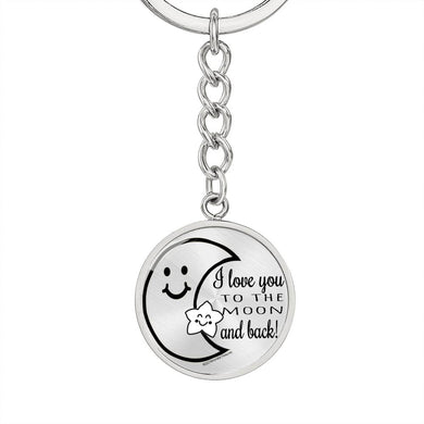 Jewelry I Love You to the Moon and Back - Keychain - Memorable Treasures