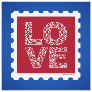 Canvas Wall Art 2 Love Stamp Gallery Canvas Print - Memorable Treasures
