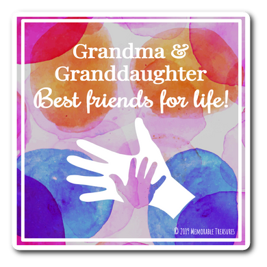 Best Friends For Life - Decal, Sticker - Memorable Treasures Gift of Love for Family and Friends