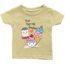 Load image into Gallery viewer, Fun Day With Grandma! - Tee-Shirt For Infants - Memorable Treasures Gift of Love for Family and Friends
