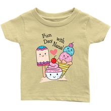 Load image into Gallery viewer, Fun Day With Nana! - Tee-Shirt For Infants - Memorable Treasures Gift of Love for Family and Friends