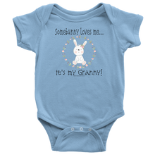 Load image into Gallery viewer, Somebunny Loves Me... Granny - Baby One Piece Teeshirt - Memorable Treasures Gift of Love for Family and Friends