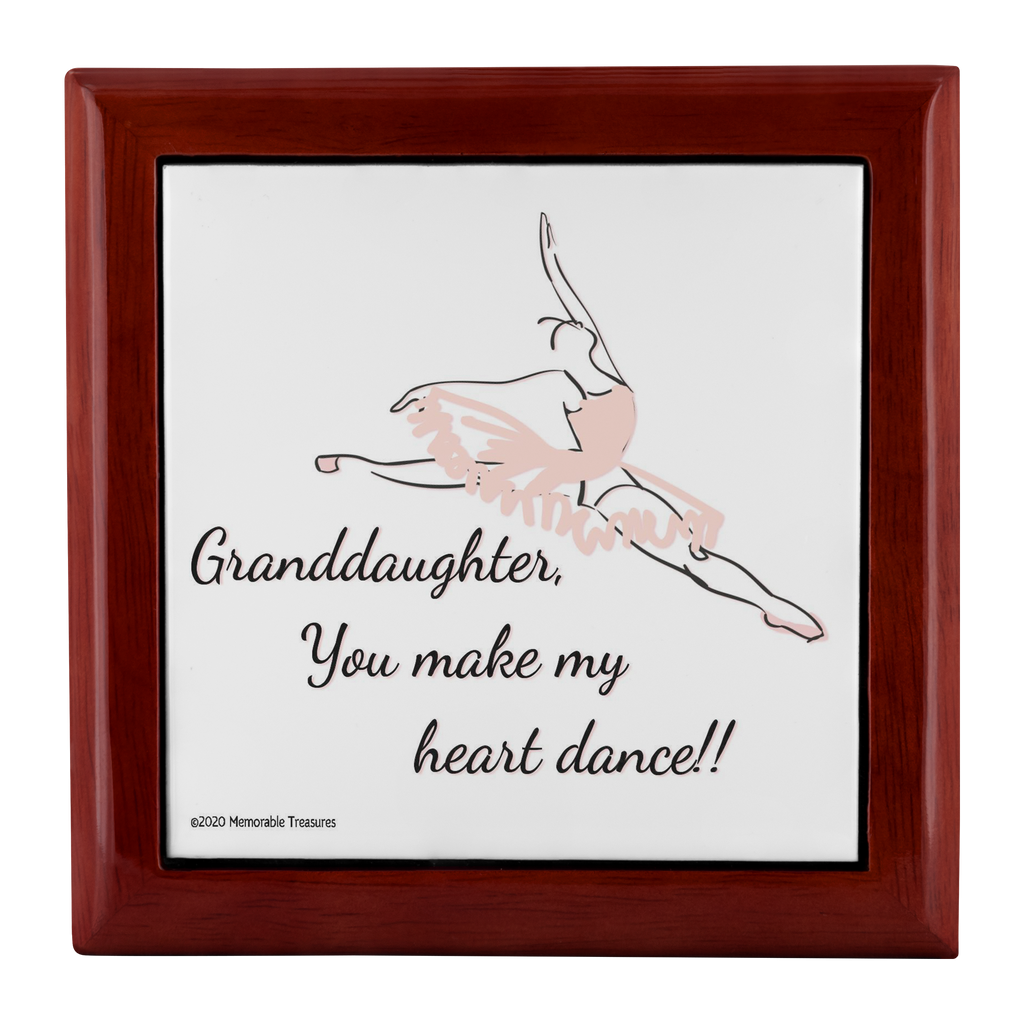 Jewelry Box Granddaughter, You Make My Heart Dance - Keepsake Box - Memorable Treasures