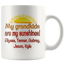 Load image into Gallery viewer, My Grandkids Are My Sunshines! - Custom Personalized Mug