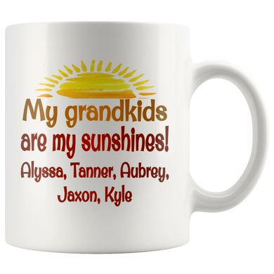 Drinkware My Grandkids Are My Sunshines! - Custom Personalized Mug - Memorable Treasures