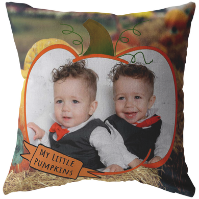 My Little Pumpkins Picture This™ Personalized Pillow 2