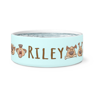 Dog Bowls Puppy Love Personalized Dog Bowl - Memorable Treasures