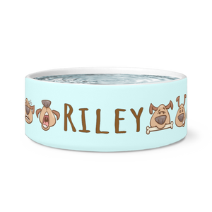 Puppy Love Personalized Dog Bowl - Memorable Treasures Gift of Love for Family and Friends