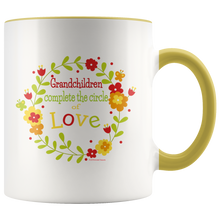 Load image into Gallery viewer, Drinkware Grandchildren Complete the Circle of Love - Bright Colored Mug - Memorable Treasures