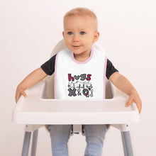 Load image into Gallery viewer, Hugs and Kisses - Embroidered Baby Bib - Memorable Treasures