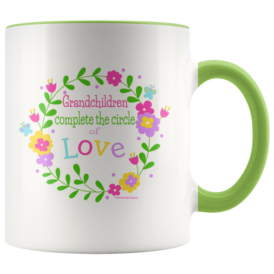 Drinkware Grandchildren Complete the Circle of Love - Pastels Mug - Memorable Treasures