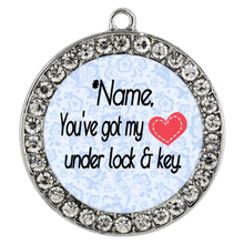 Load image into Gallery viewer, In Your Own Words You've Got My Heart Under Lock and Key - Personalized Custom Necklace - Memorable Treasures