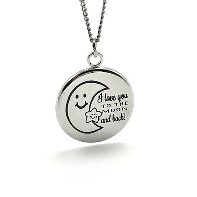 I Love You To The Moon and Back - Necklace - Memorable Treasures Gift of Love for Family and Friends